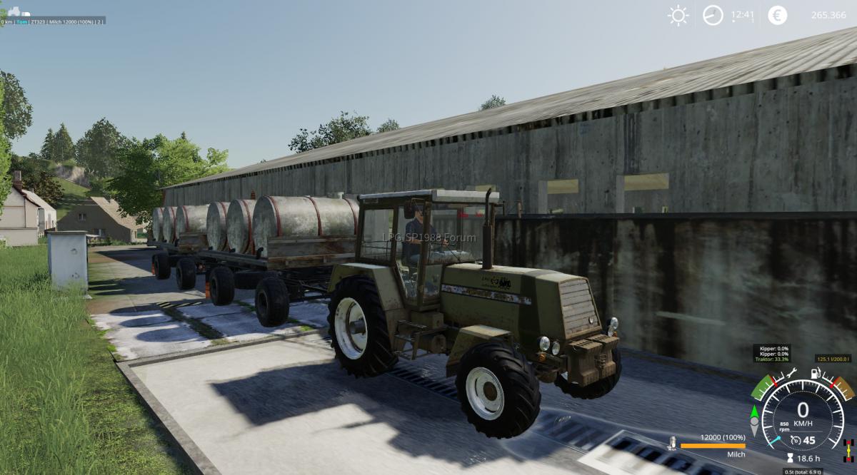 Milch fahren mit neuen (alten ) Hänger