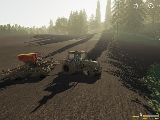 Der Weizen muss in den Boden